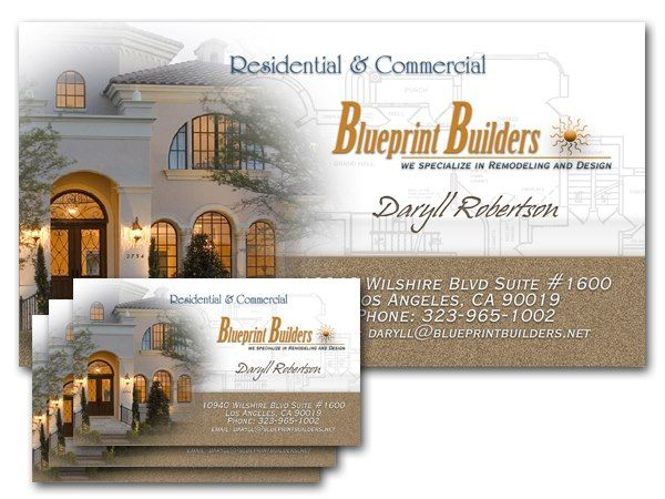 Blueprint builders sample business card business card designs blueprint builders sample business card malvernweather Images