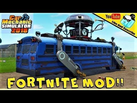 FORTNITE MOD!! MEETS - Car Mechanic Simulator 2018 | fortnite | Car