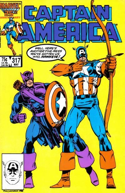 Cover for Captain America (Marvel 1968 serie) #317 [Direct Edition] May 1986