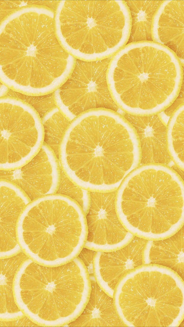 Yellow lemon #yellowaesthetic Lemon wallpaper for your iPhone X from Everpix