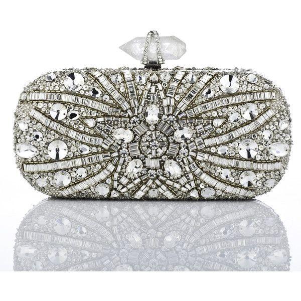 Marchesa Crystal Quartz Clutch ($2,795) ❤ liked on Polyvore