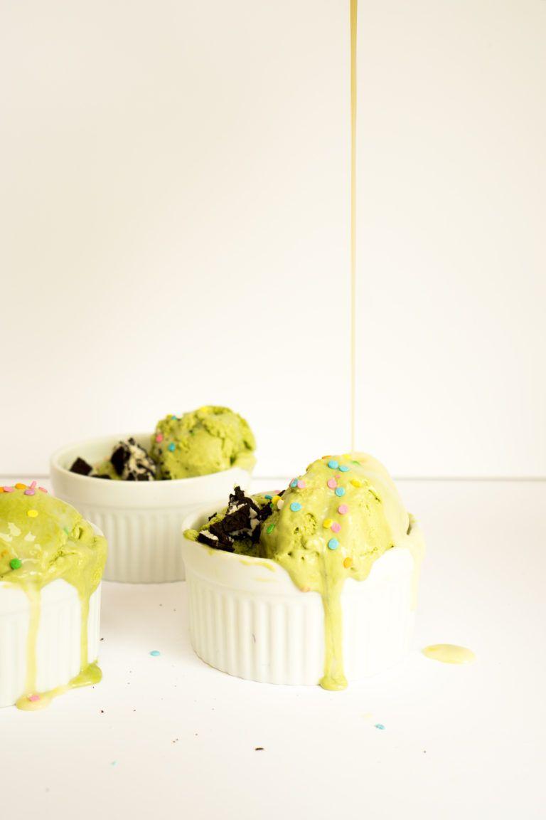 Hot Sweetened Condensed Milk Matcha Sundaes Recipe Desserts Dessert Recipes Matcha