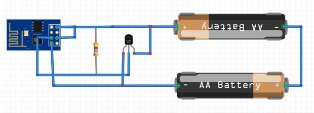 ESP8266 WiFi DS18B20 Temperature Sensor (ESP8266 Arduino IDE Without ...