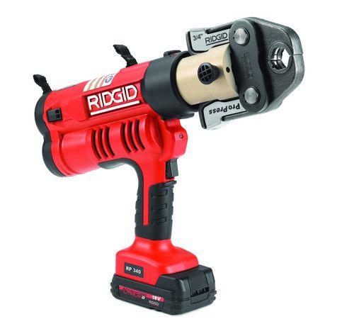 Ridgid 43358 Rp 340 Battery Press Tool Kit Wpropress Jaws12 2