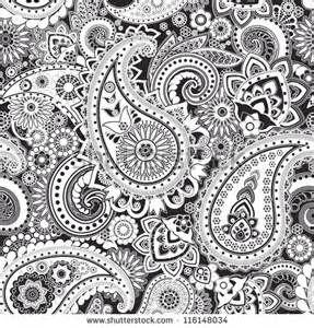 Bandana Pattern Clipart Black And White Seamless Pattern Based On