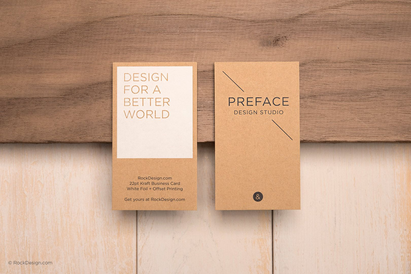 Elegant kraft white foil stamped simple awesome visit card design order or creative brown kraft business cards today select your preferred print finishing such as embossing deboss letterpress offset printing reheart Gallery