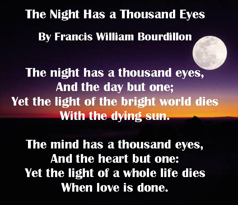 The Night Has A Thousand Eyes | Words, Quotes, Poems