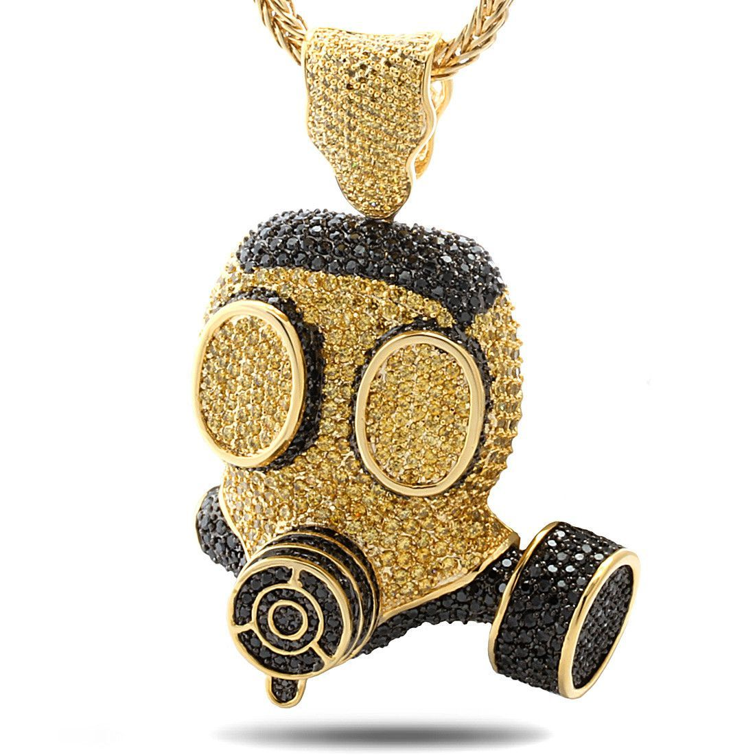 The 14k gold gas mask necklace aloadofball Images