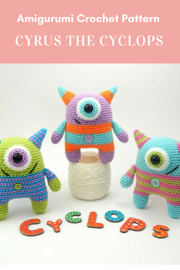 Cyrus the Cyclops - Amigurumi Crochet Pattern | Yarn craft ...