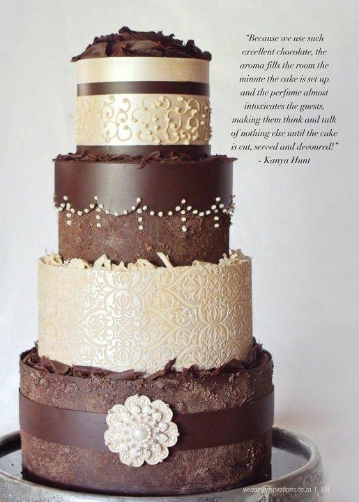 Wedding Cakes In Milk And Dark Chocolate Chocolate Wedding Cake