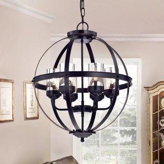 Gildard Oil Rubbed Bronze Globe Pendant Living Room Lighting