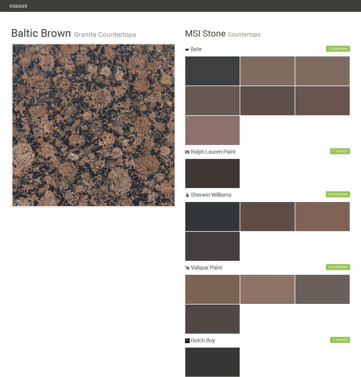 Baltic brown granite countertops countertops msi stone for Tan brown paint colors