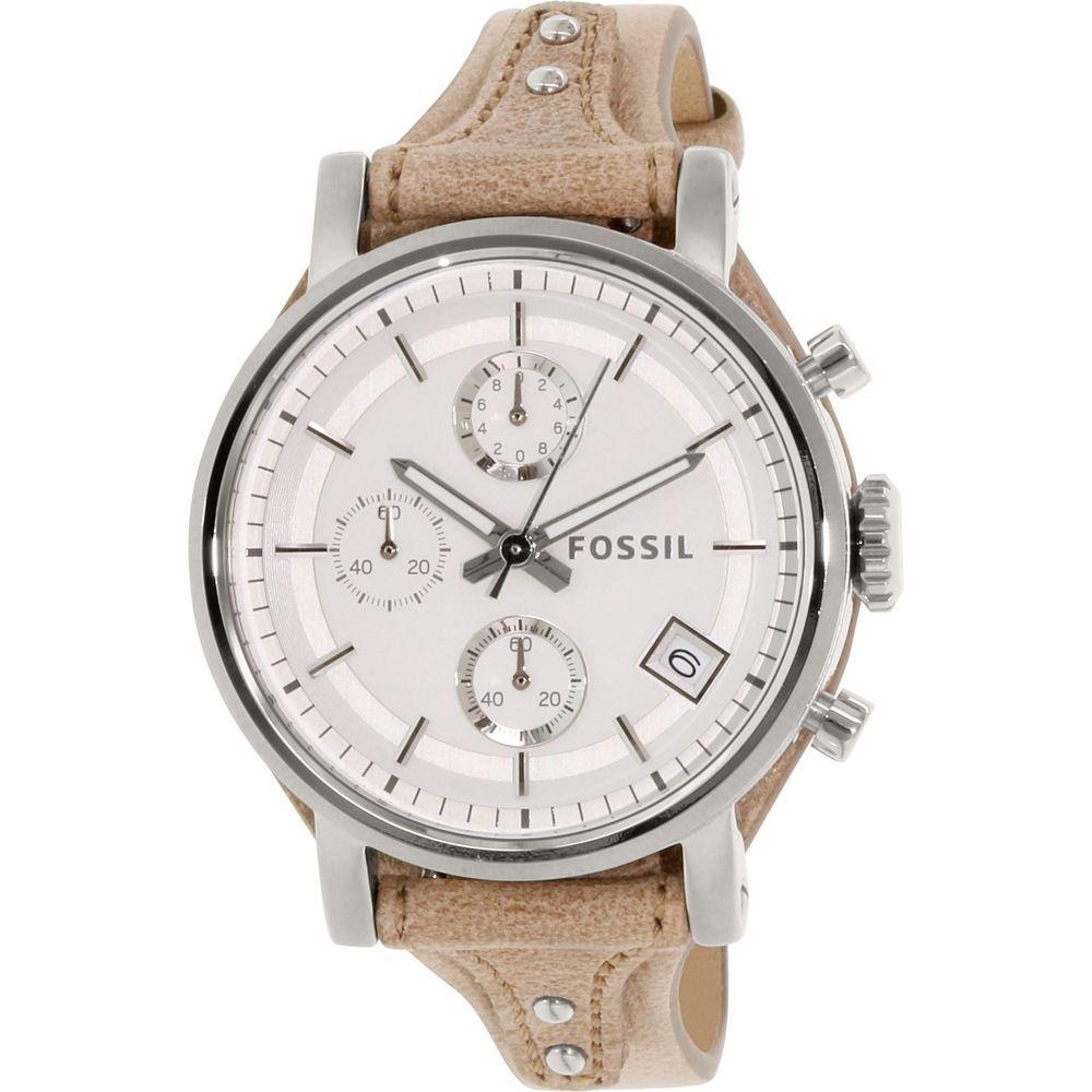 b1657af2ddee Fossil Women s Boyfriend ES3625 Silver Leather Quartz Fashion Watch  Fossil   FashionWatch