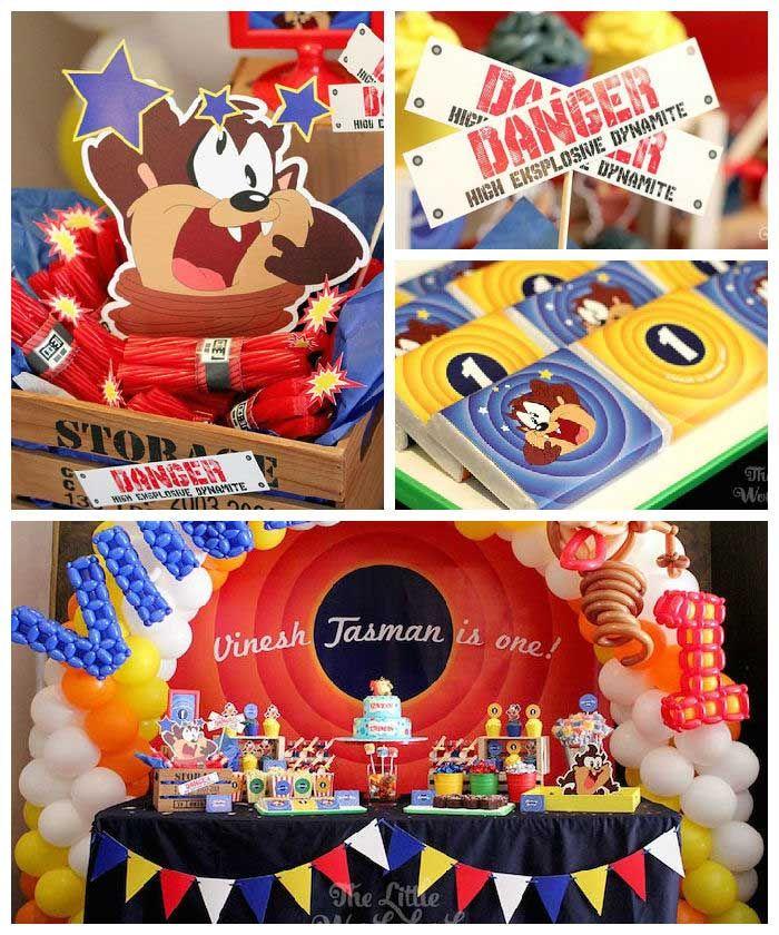 Looney Tunes Tazmanian Devil Themed Birthday Party Dj
