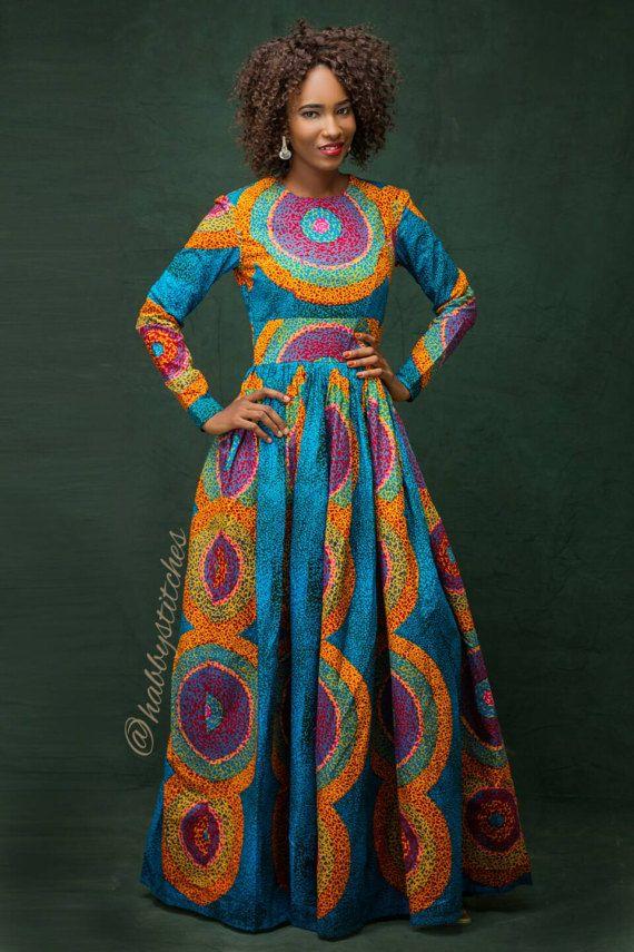 sandra maxi robe avec poches robe africaine africaine de longues robes pinterest maxi. Black Bedroom Furniture Sets. Home Design Ideas