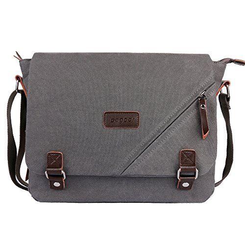 8192ccdfff7 SALE PRICE -  27.99 - ibagbar Canvas Messenger Bag Shoulder Bag Laptop Bag  Computer Bag Satchel Bag Bookbag School Bag Working Bag for Men and Women