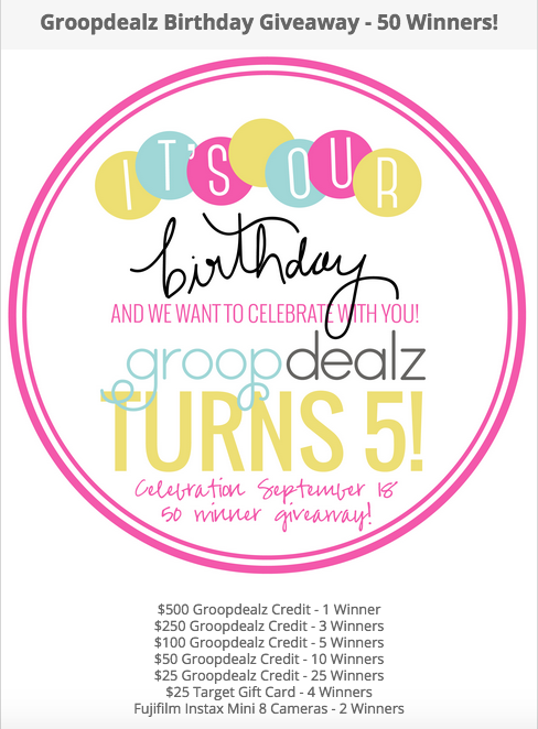 Groopdealz Birthday #sweepstakes #contest http://www.planetgoldilocks.com/American_sweepstakes.htm