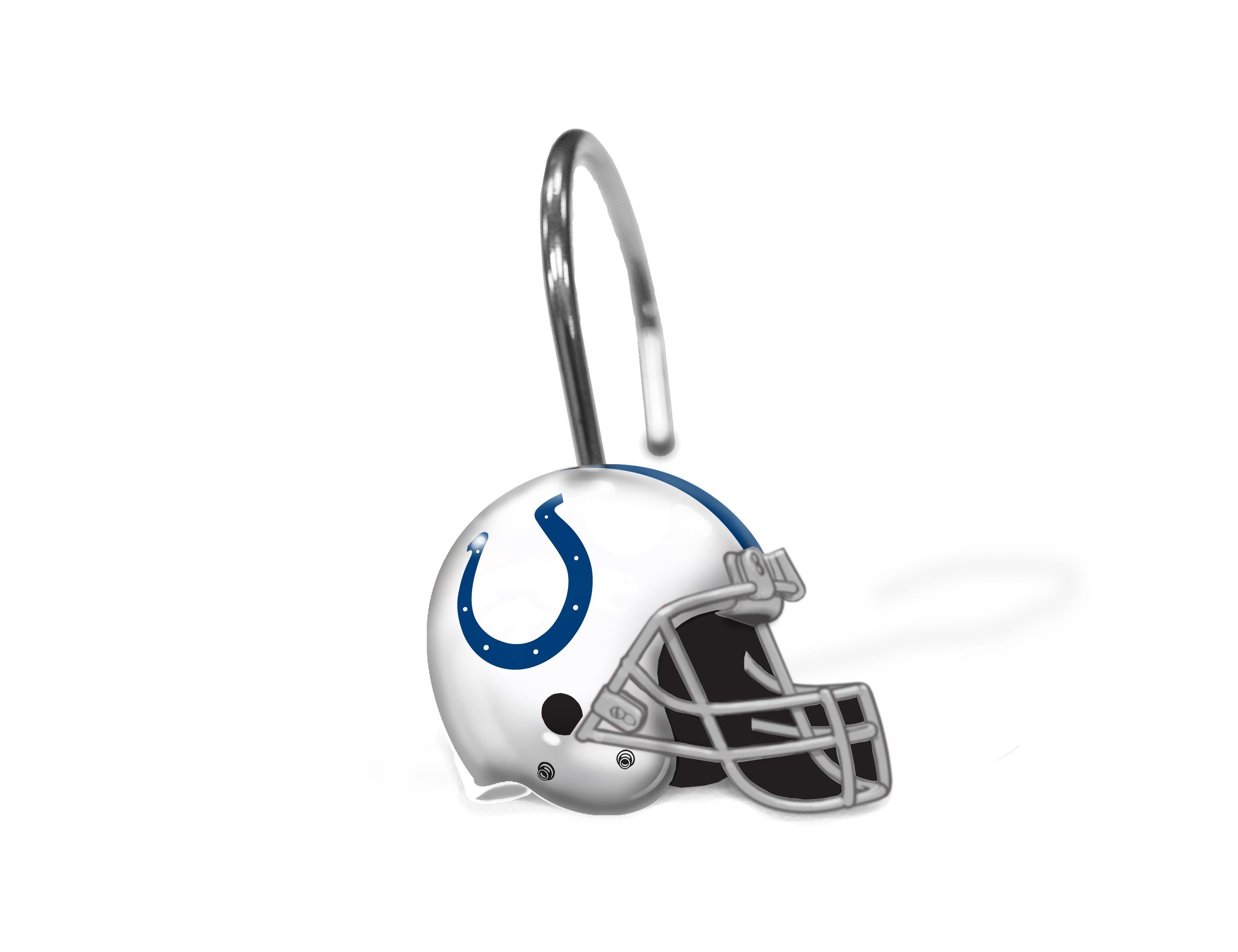 Sports shower curtain hooks - Colts Shower Curtain Rings 12 Rings Per Box 1
