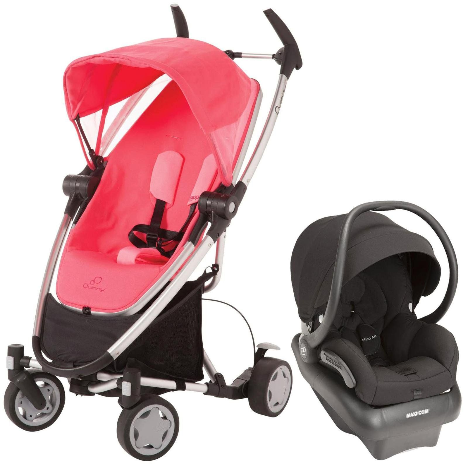 Quinny Zapp Xtra Folding Seat Stroller Pink Precious Brand New!!