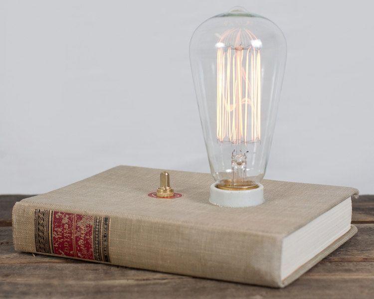 Hardback Book Lamp The Odyssy 140 00 Via Etsy Lamparas Lampara