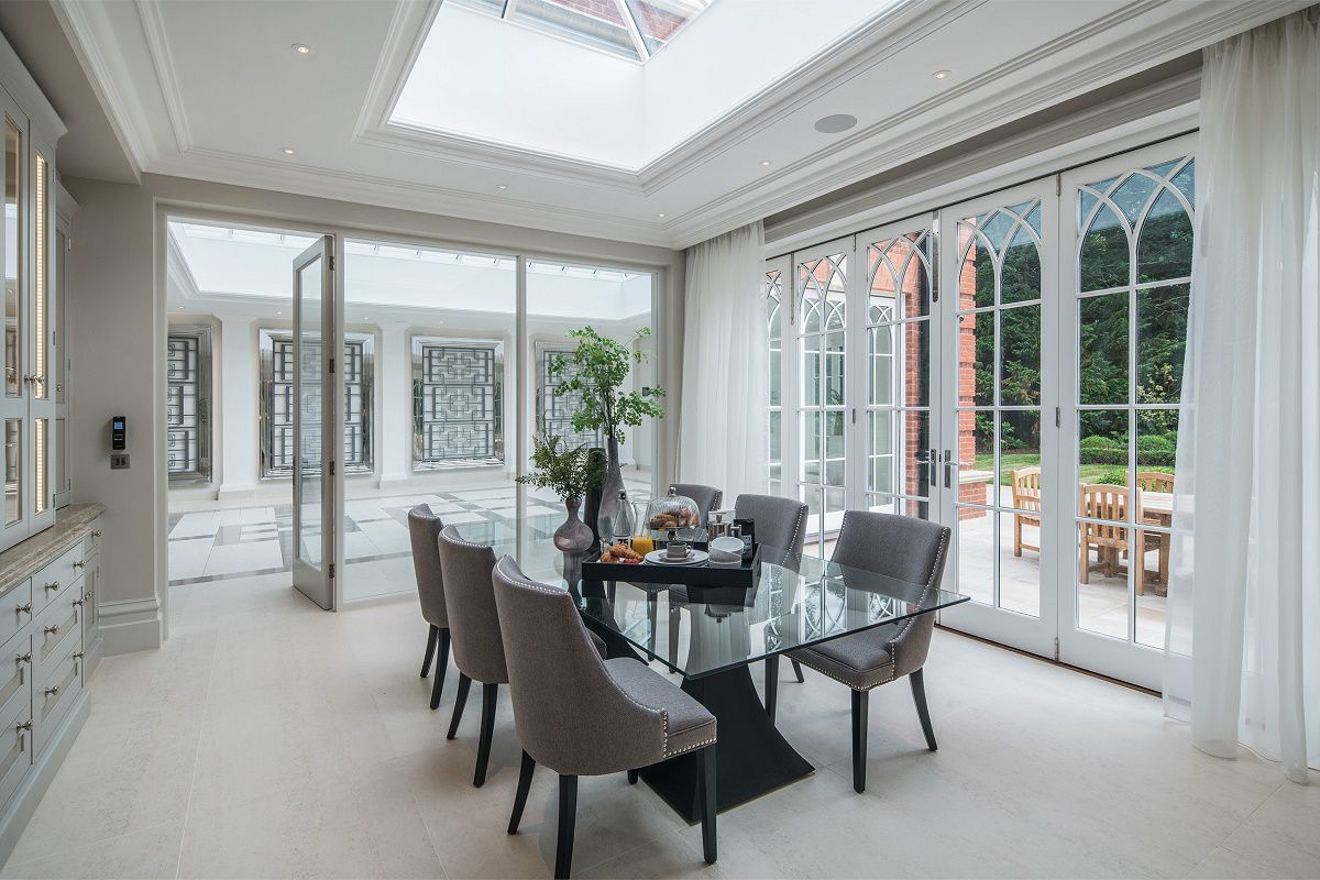 Neo Georgian Style English Estate Interior Design Dining Room