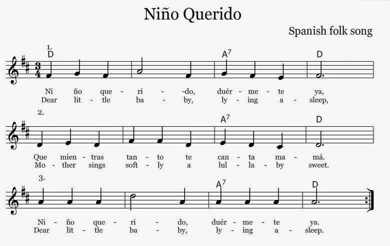 Nino Querido A Round From Spain Learn Music Theory Middle