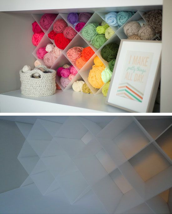 Merveilleux $20 DIY Yarn Storage | 32 DIY Storage Ideas For Small Spaces | DIY  Organization Ideas For Small Spaces