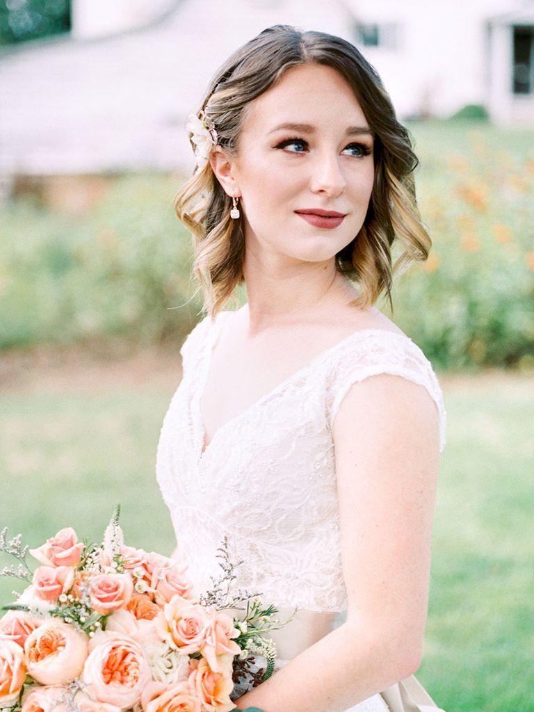 31 Stunning Wedding Hairstyles For Short Hair Theknot Com Short Wedding Hair Unique Wedding Hairstyles Bridesmaid Hair [ 1024 x 768 Pixel ]