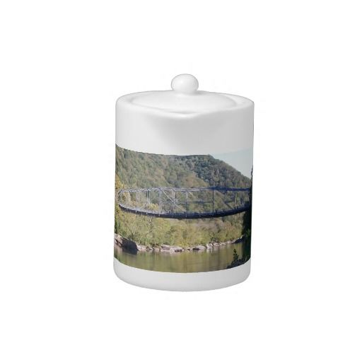 Old New River George Bridge!  This 11oz #Tea #Pot is customizable to meet your needs and will bring personality to your table!  Visit www.zazzle.com/dww25921 to learn more!