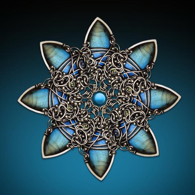 mandala style kaleidoscope digital art made of Iza Malczyk jewelry ...