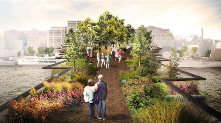 Thomas Heatherwick S Garden Bridge Gets Green Light From London S Lambeth Council Landscape Design Garden Bridge London London Garden
