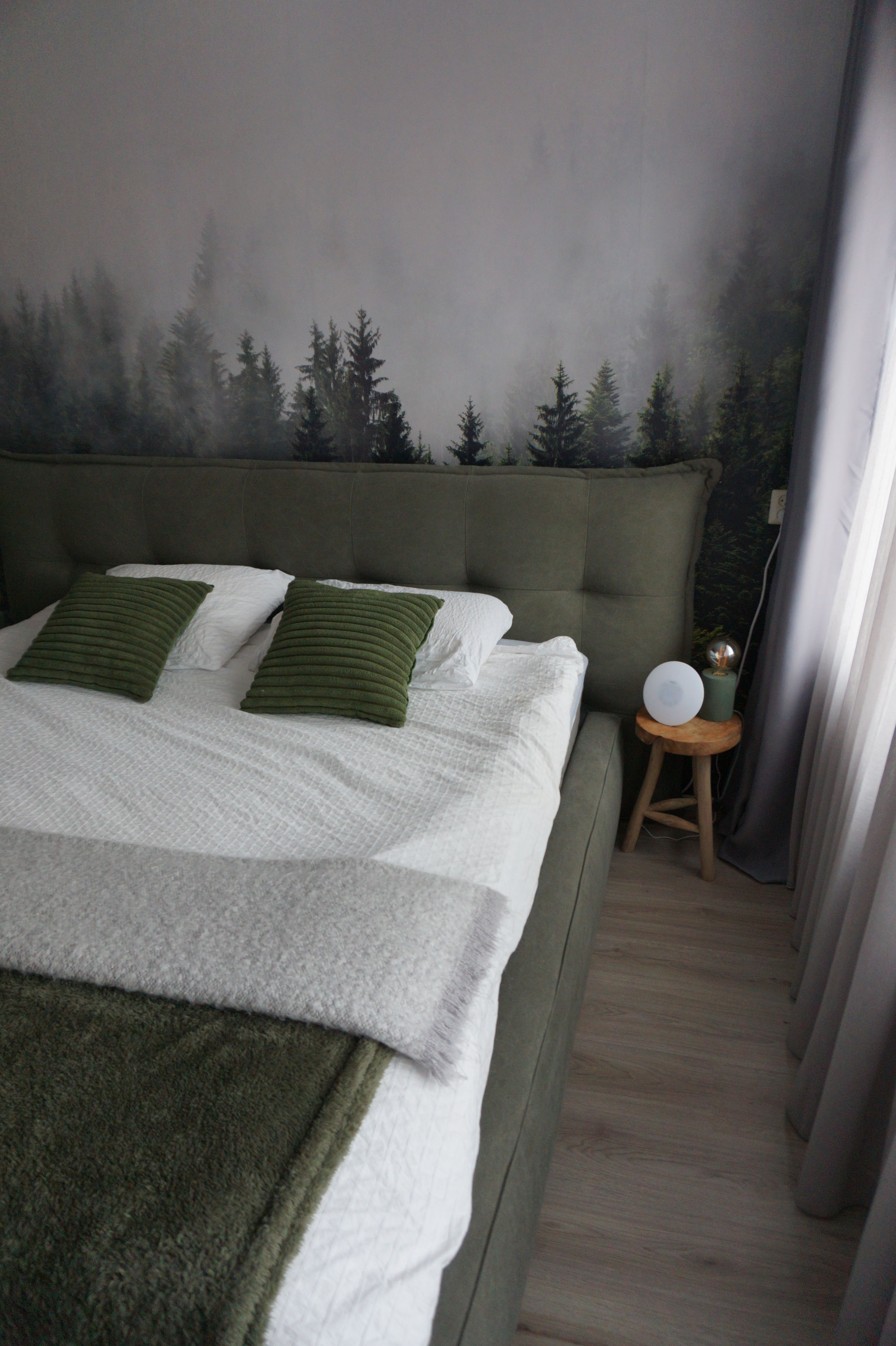 flow design interieuradvies portfolio interieurontwerp slaapkamer groen puur natuur