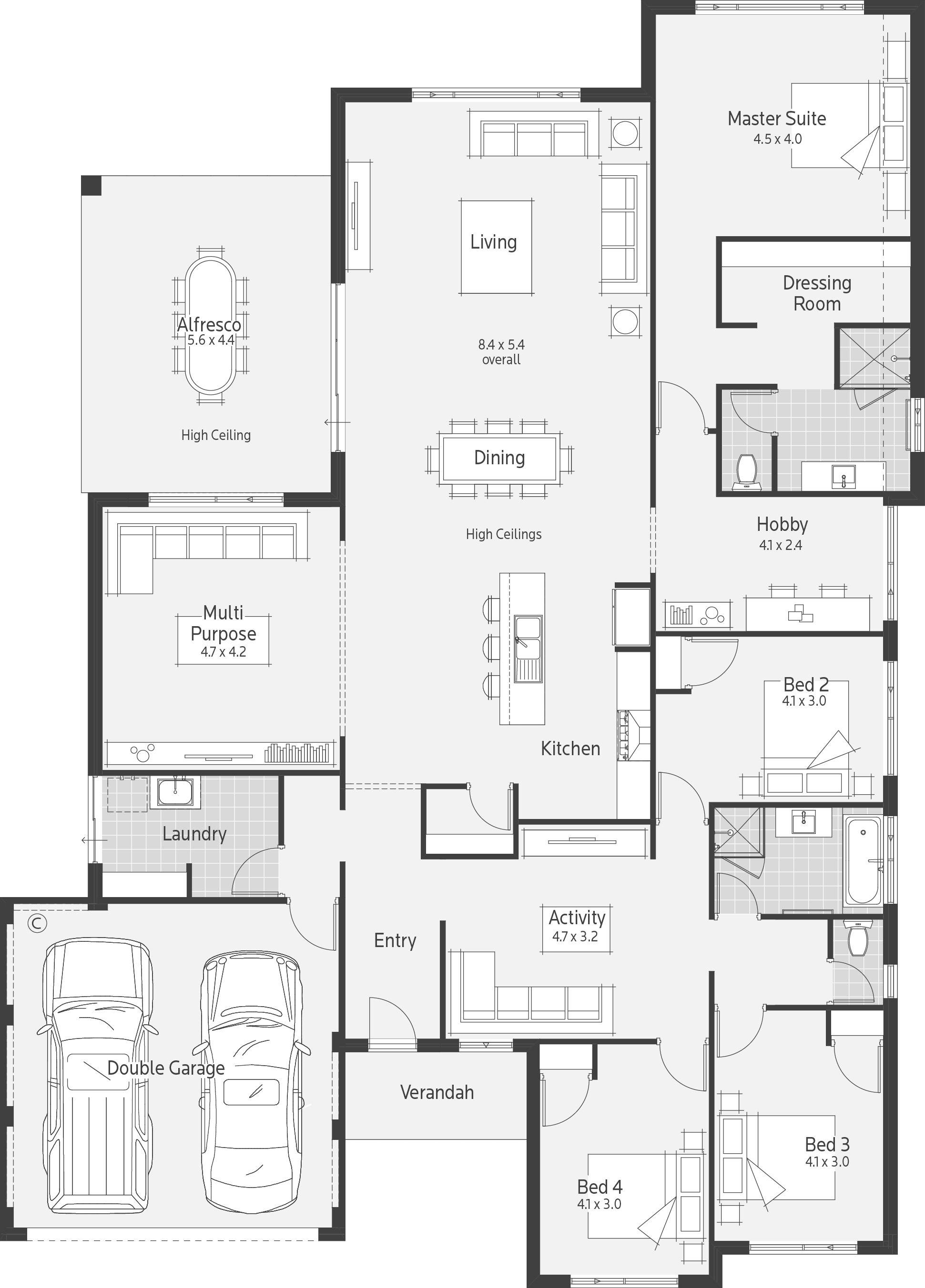 Goulburn Home Design Floor Plans Dream House Rooms Dream House Plans