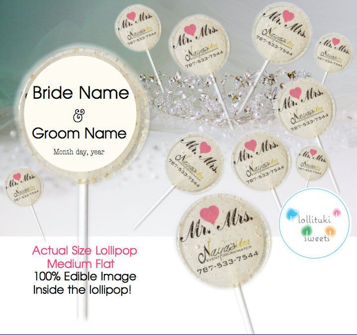 Wedding Favors, Candy lollipops, Edible Image! cotton candy, strawberry... with ribbon included. A personal favorite from my Etsy shop https://www.etsy.com/listing/470047907/12-dozen-of-wedding-favors-lollipops
