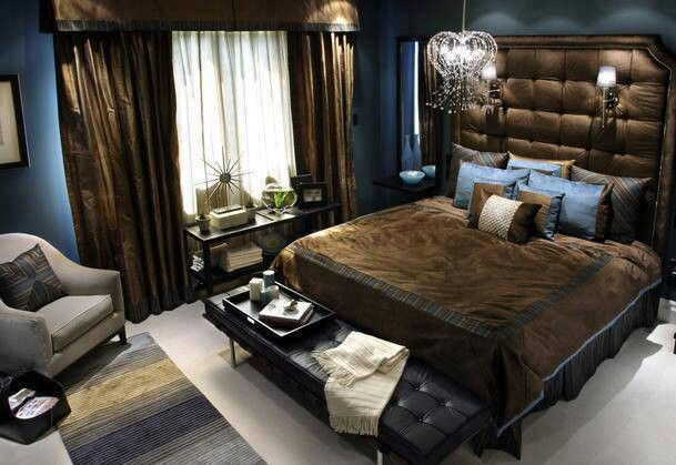 How Nice Blue Bedroom Design Bedroom Design Blue Brown