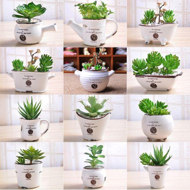 Small Plants For Home Part - 49: Hot Flower Pot Balcony Garden Plant Planter Home Decoration New Garden  Supplies