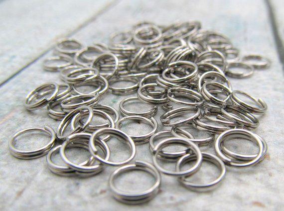 6mm Split Ring Stainless Steel Split Rings Set Of 100 Sst Findings 6mm 072 Split Ring Rings Ring Crafts