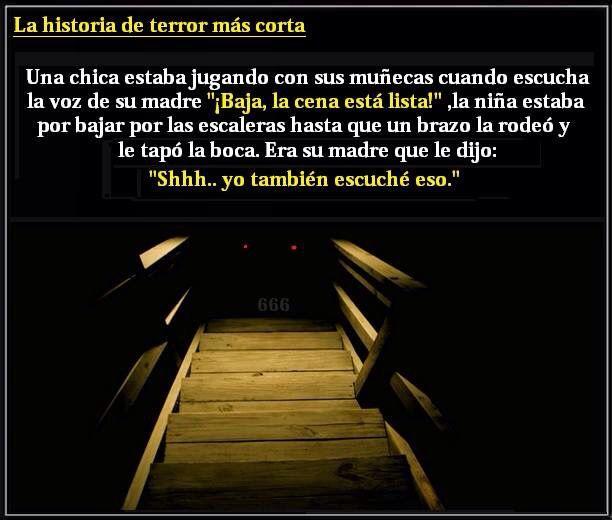 La Historia De Terror Mas Corta Historias De Miedo Cortas