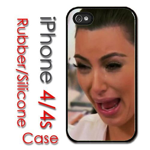 purchase cheap 7b077 3310d iPhone 4 4S Rubber Silicone Case - Kim Kardashian Crying Face ...
