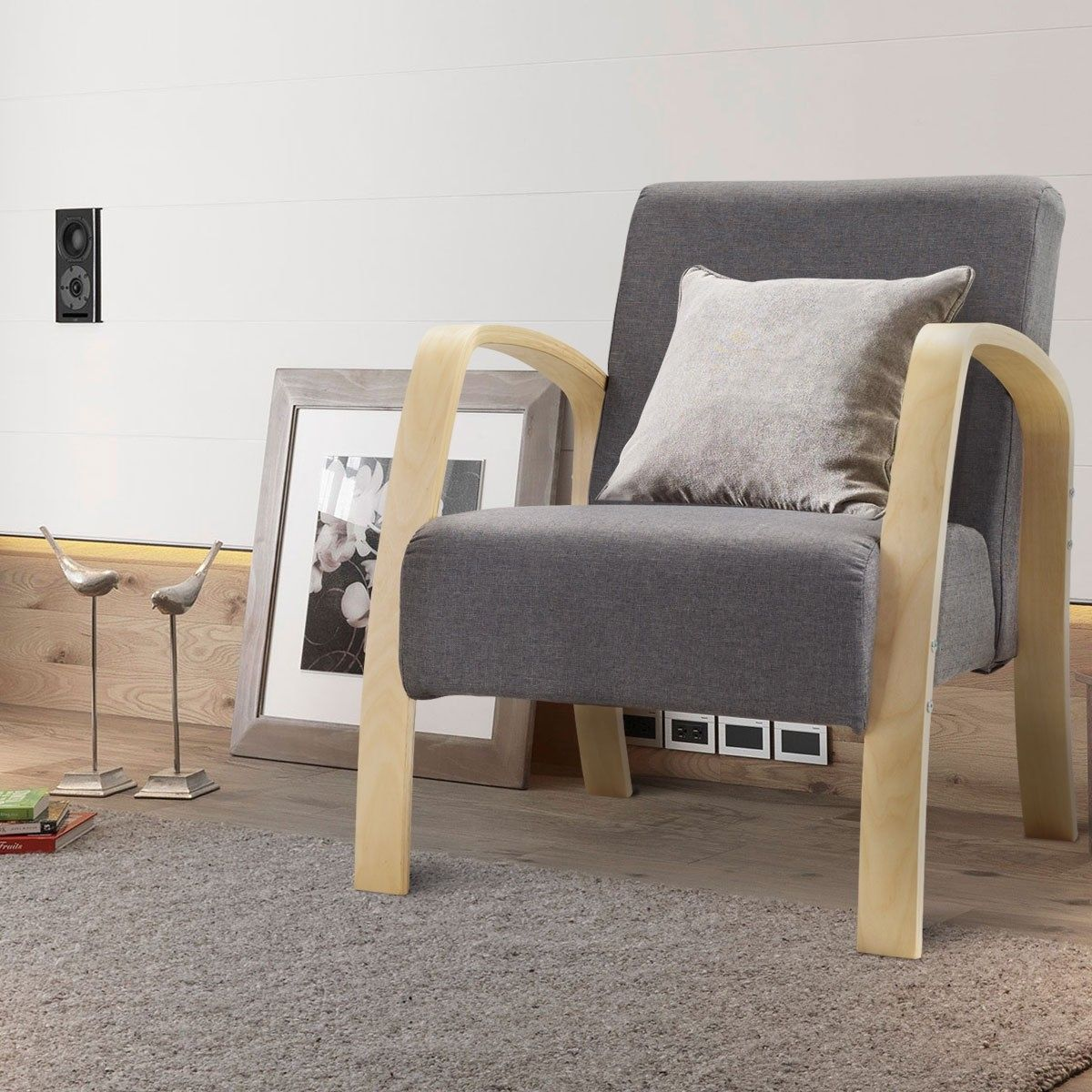 Mid Century Modern Accent Lounge Armchair Furniture Armchair