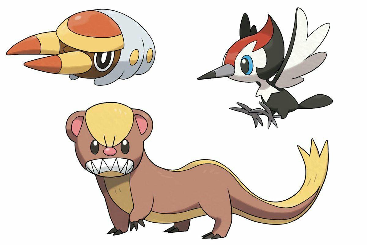Three New Pokemon Grubbin Yungoos And Pikipek Pokemon Pokemon Sun New Pokemon