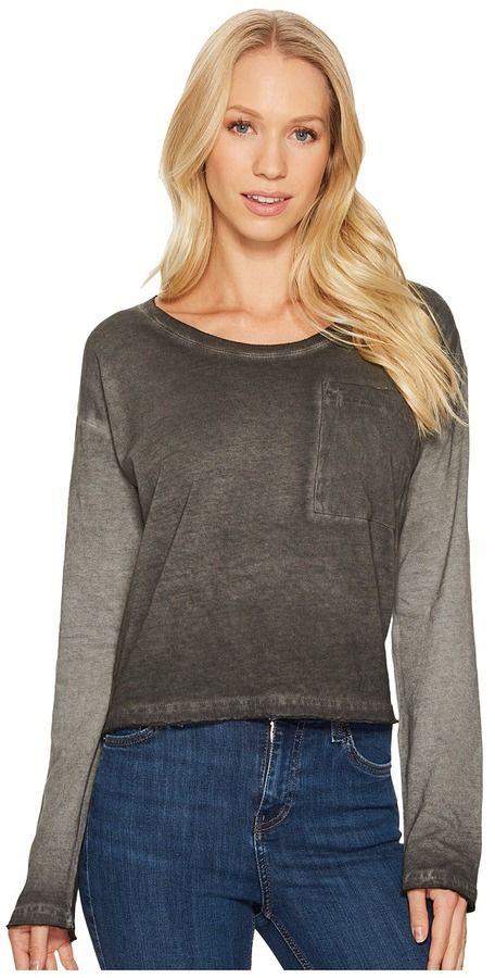 acbfa0e6c509d Alternative Cotton Jersey Element Wash High Waisted Tee Women's T Shirt
