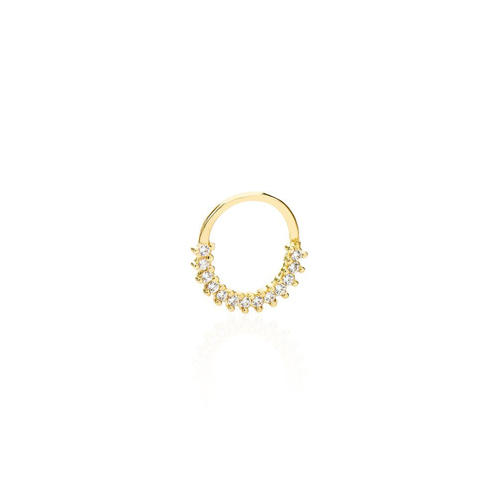 Piercing em Ouro 18k Argola com Zircônia - joiasgold   Jóias, Semi ... f55f4af9d7