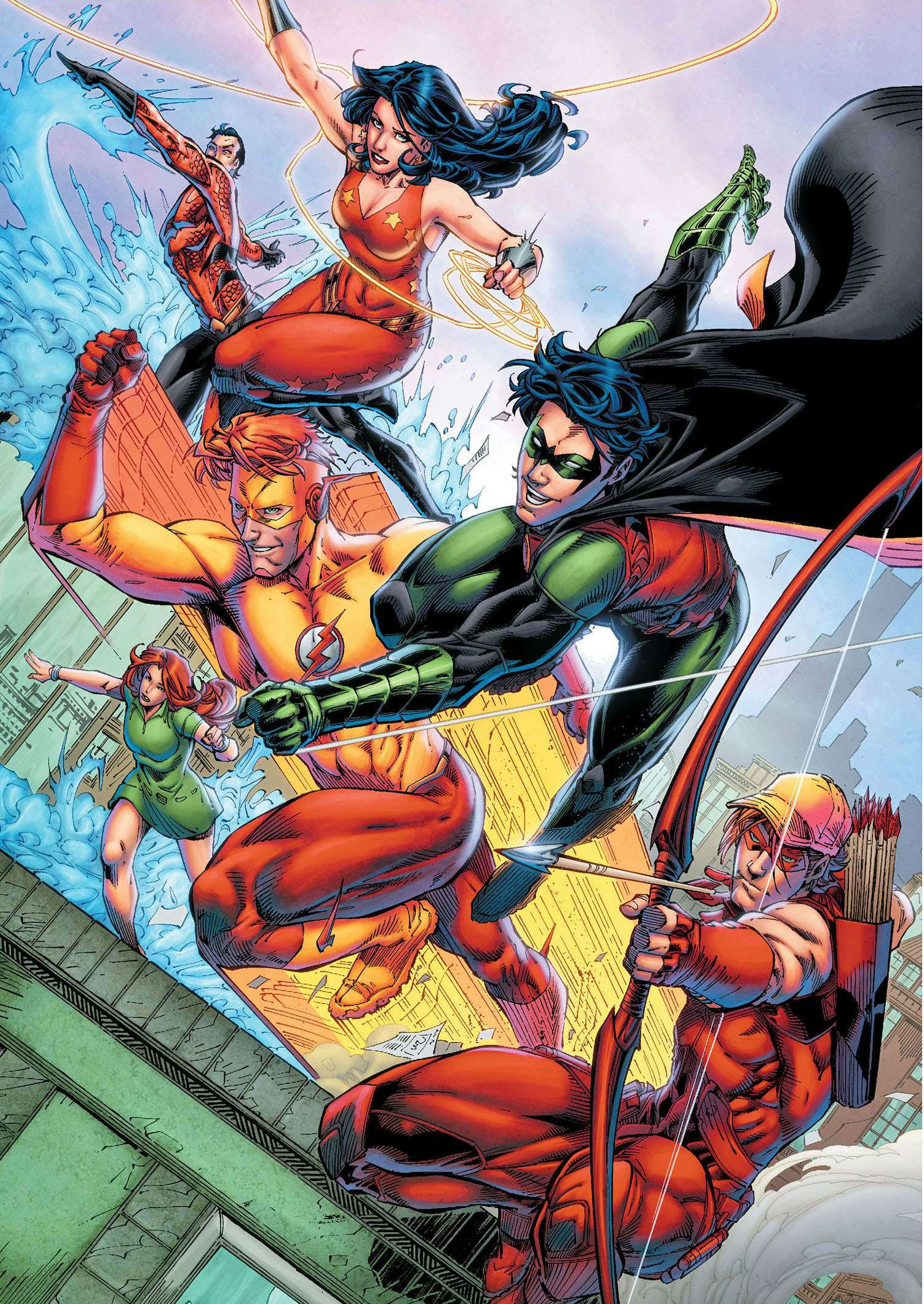 Titans by Brett Booth Titans rebirth, Superhero comic