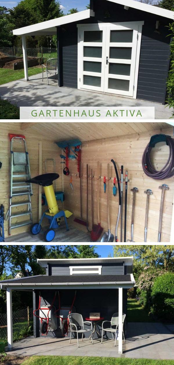 Gartenhaus Aktiva mit Schleppdach (mit Bildern