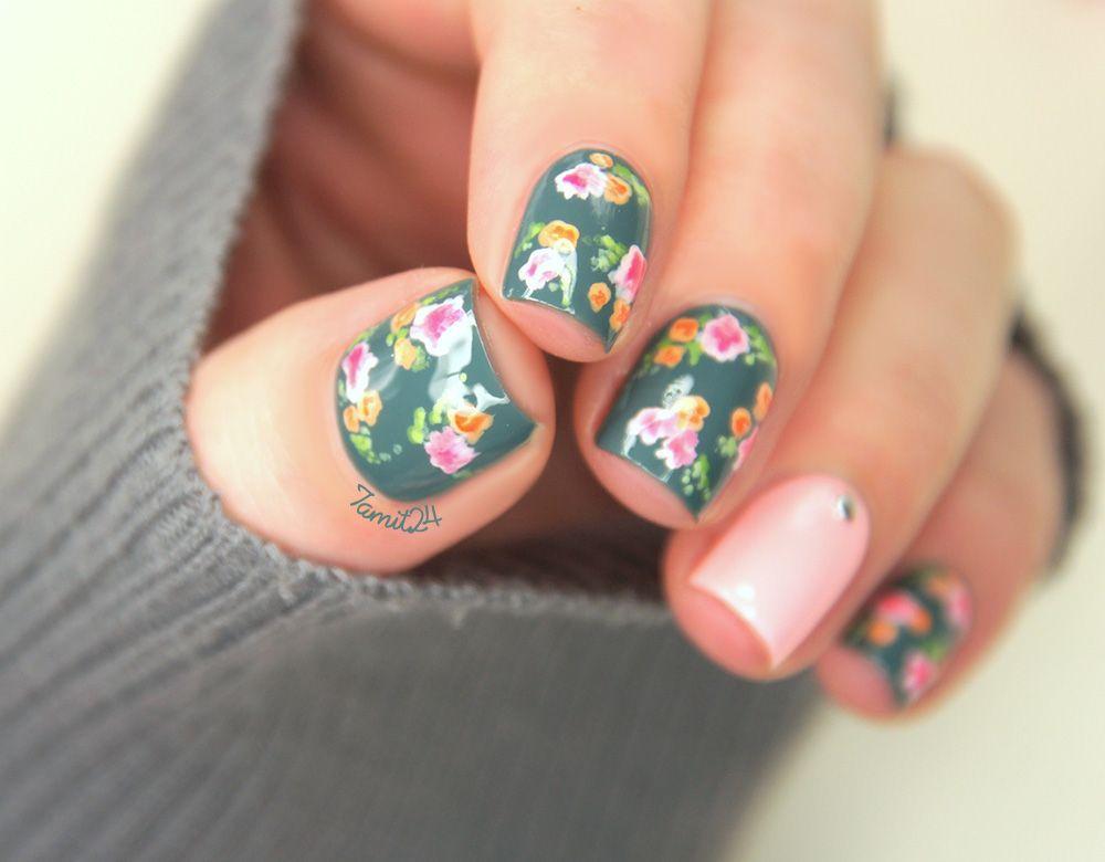 Vintage Flower Nails Tutorial Fallinnailove