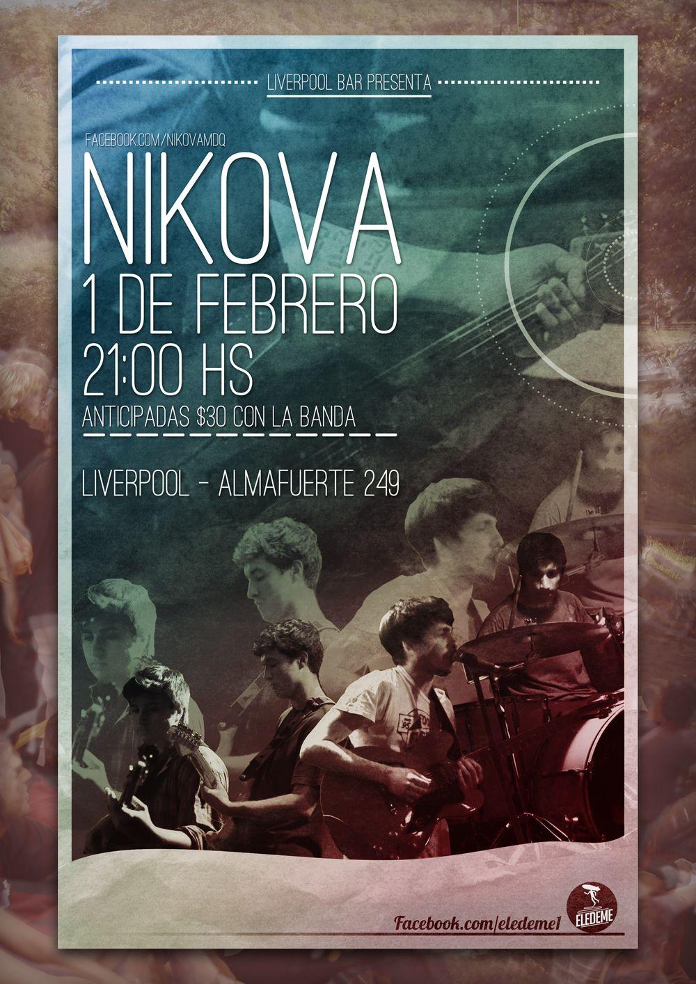 Flyer Para Nikova 1 De Febrero De 2014 1 De Febrero Almafuerte Febrero