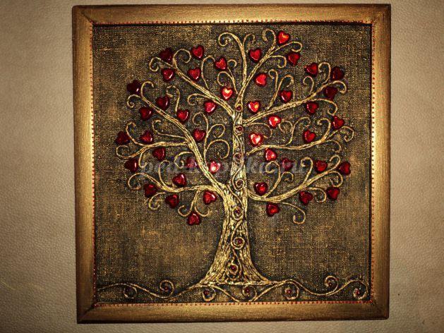 Панно к 14 февраля своими руками «Дерево любви». Мастер-класс