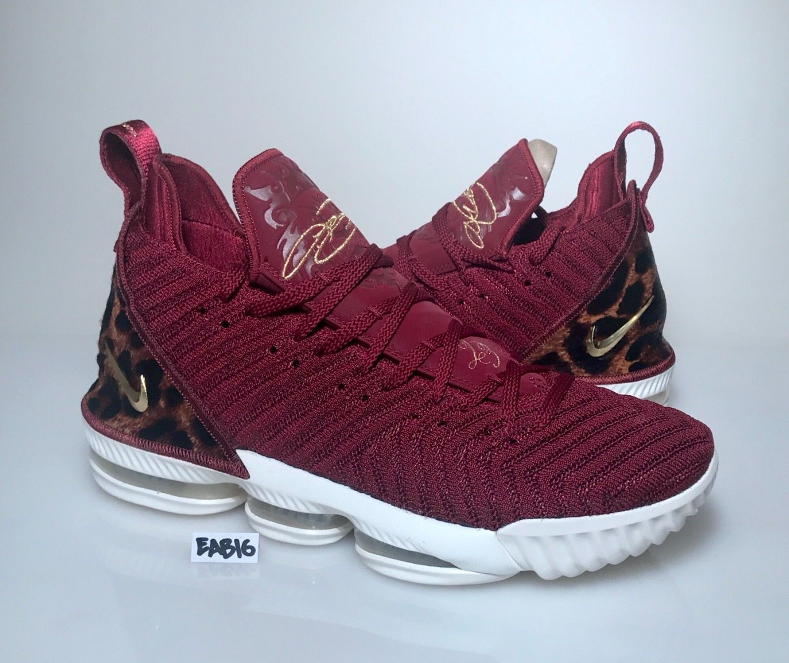 57a137db0f1 Nike LeBron 16 King Team Red Metallic Gold-Multi Color AO2588-601 Leopard  Print