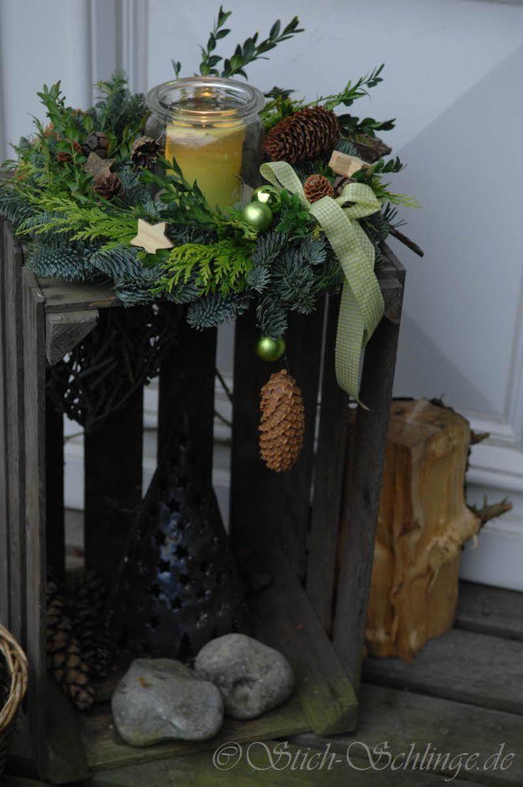 Tischdeko weihnachten 2012  Deko Flur oder vor Haustür | DekoChristmas | Pinterest | Haustüren ...